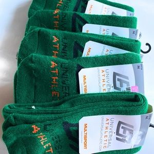 5 pairs lot Over calf bisexual athletic sock Green